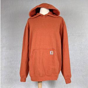 Carhartt Original Fit Orange Pullover Hoodie M